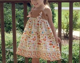 Fall Knot Dress, Toddler Girls Dress, Toddler Knot Dress, Thanksgiving Dress, Girls Dress, Knot Dress, Thanksgiving Outfit