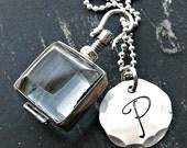 Glass Sterling Silver Locket Necklace - Personalized Locket - Sterling Silver Initial Locket - High Quality Locket Necklace
