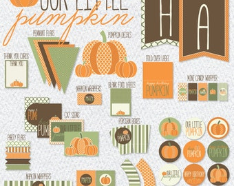Our Little Pumpkin Party PRINTABLE (INSTANT DOWNLOAD) by Love The Day