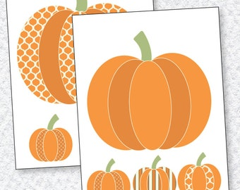 Pumpkin Decals PRINTABLES (INSTANT DOWNLOAD) by Love The Day