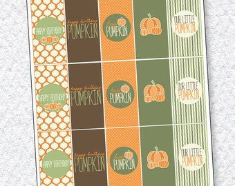 Our Little Pumpkin Party PRINTABLE Mini Candy Wrapper (INSTANT DOWNLOAD) by Love The Day
