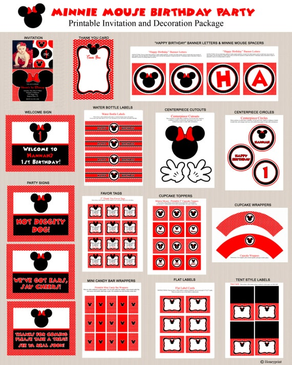Minnie Mouse Birthday Party Printables 2 Minnie Mouse Party