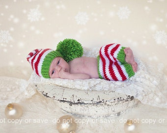 Download PDF knitting pattern k-39 - Newborn Stocking hat and shorts