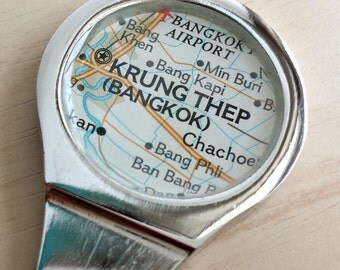 Bangkok Krung Thep Map Letter Opener Employee Office Home Co-Worker