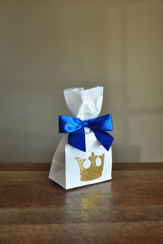 Royal Prince Baby Shower Favor Bags Handcrafted In 2 3