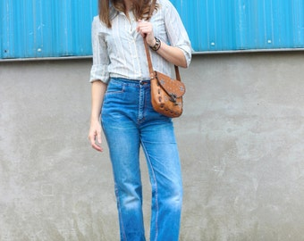 1970s Vintage High Waist Jeans / small to medium