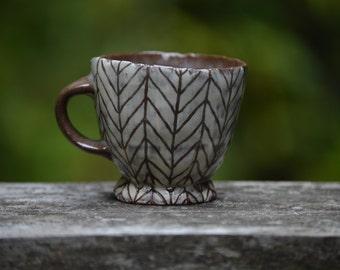 Petite Chevron Espresso Cup