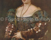 Vintage Postcard, The Beautiful Woman, Pitti Palace, Florence Italy, Color Postcard, Titian Painting, Renaissance Art