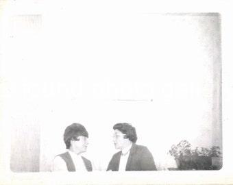 Vintage Photo, Two Women Talking, Black & White Photo, Snapshot, Found Photo, Old Photo, Family Photo, Vernacular Photo