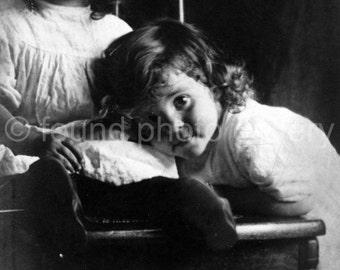 Digital Download, Identical Twin Girls, Vintage Postcard, Black & White Photo, Found Photo, Vernacular Photo, Printable Photo, Edwardian