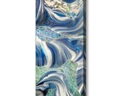 ARCTIC #2 Mirror Wrapped Edge Frameless Giclee Print Ready To Hang Blue and White Jubilant Art Abstract Glass Photography