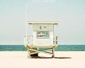 SALE-Photography Calendar, Desk Calendar, 2016 Mini Calendar, Lifeguard Towers, California, Beach, Coastal, Seascape, Travel, Beach Calendar