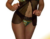 Green Bay Packers Lace Babydoll Negligee Lingerie Teddy Set - XS Extra Small to L Large - Please READ SIZING Info - Also in White