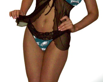 Philadelphia Eagles Lace Babydoll Negligee Lingerie Teddy Set - XS Extra Small to L Large - Please READ SIZING Info - Also in White