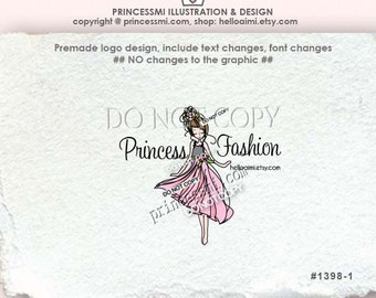 1398-1 lady business logo, girl Logo Design / custom logo / fashion logo photography logo watermark