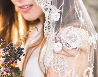 Bridal Veil Crystal Wedding Veil - Style 003