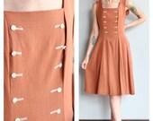 1940s Dress // Luv Lee Linen Dress // vintage 40s dress