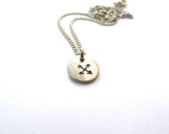 Silver Arrows Necklace // Custom Necklace // Inspirational Jewelry // Power, Strength // Wild Woman // Hand-Stamped // Arrow Jewelry