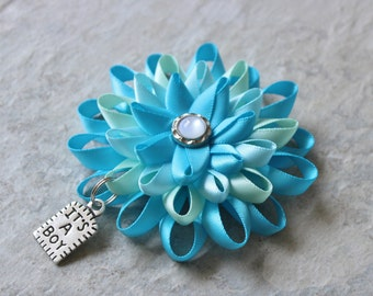 Baby Shower Corsage Pin, Baby Boy Shower, Aqua, Pale Green, Turquoise Baby Shower Corsages, Its a Boy Pin, Its a Boy Baby Shower, Mom to Be