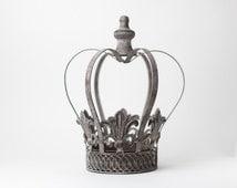 Crown Centerpiece, Metal Crown, Large wedding cake topper