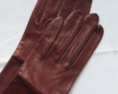 Vintage Macy's Marchioness Washable Leather Gloves Made in Italy Vintage Italian Leather Gloves