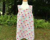 Reversible Toddler Dress | Crossover Baby Dress | Cotton Child Dress