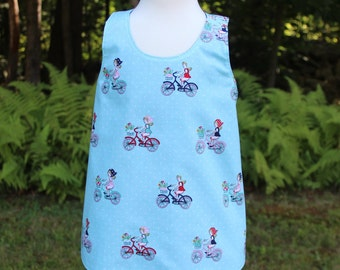 Toddler Summer Dress - Blue - Toddler Dress - Cotton