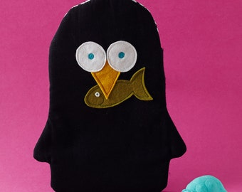 Penguin Hot Water Bottle cover - comes with hot water bottle