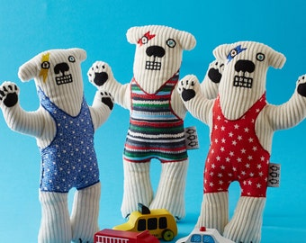 Child's toy/plush - David Bowie inspired Haystacks the Polar Bear