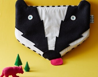 Badger Hot Water Bottle cover - comes with hot water bottle