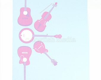 5trings Music Screen Print Poster