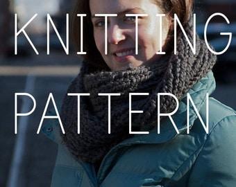 Knitting Pattern - Double Loop Cowl - Easy/Intermediate - Digital Download