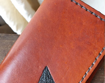 Leather Trifold Wallet - Hand Tooled Leather Wallet - Arrowhead Wallet - Leather Wallet
