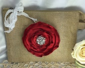 Burlap bags, Bridesmaid bags, Bridesmaid gifts, Wedding party, Rustic wedding, Bridal gift, Clutch bags, Valentines, Gift ideas for her