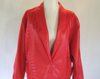 1980s Red Michael Jackson Batwing Jacket Blazer