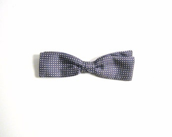 Blue & White Dotted Vintage Bow Tie