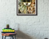 The Sun and The Moon - Mixed Media Painting - Large Oringinal Art