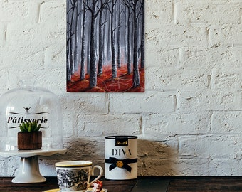 Tree Painting - Giclee Art Print  - Fall Scene