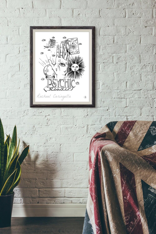 Psychic Reader Sign Vintage Fortune Teller Poster Tarot