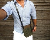 Waxed canvas day bag/small messenger bag COLLECTION UNISEX