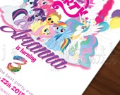 My Little Pony Inspired, My Little Party DIGITAL 5x7 Invitation
