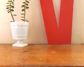 V is for Victory... Vintage Red Marquee Letter V, Wall Hanging