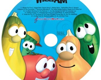 Personalized Veggie Tales Silly Songs CD- All their favorite Silly Songs personalized with their name!