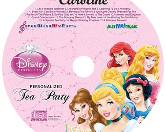 Personalized Disney Princess Tea Party CD - Your child will have a tea party with the Princess's where they use her name 64 times.