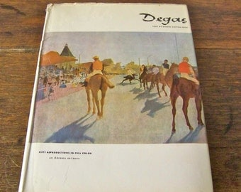 Vintage Degas Art Book Fifty Color Plates Library of Great Painters Edger Degas French Artist Impressionism Homeschool Vintage 1950s