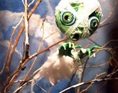 Halloween Mummy Zombie Ornament - Halloween Decoration - MADE TO ORDER -