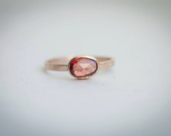 Freeform rustic Spinel Ring in recycled Gold