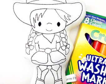 Colour Me Cowgirl with Washable Markers