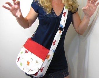 Roar Dinosaur Red Diaper Bag Messenger Bag