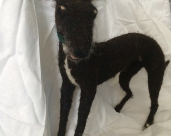 Needle felted Dog sculpture - Ross The Whippet
